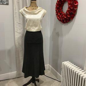Tahari cowlneck colorblock dress size 16